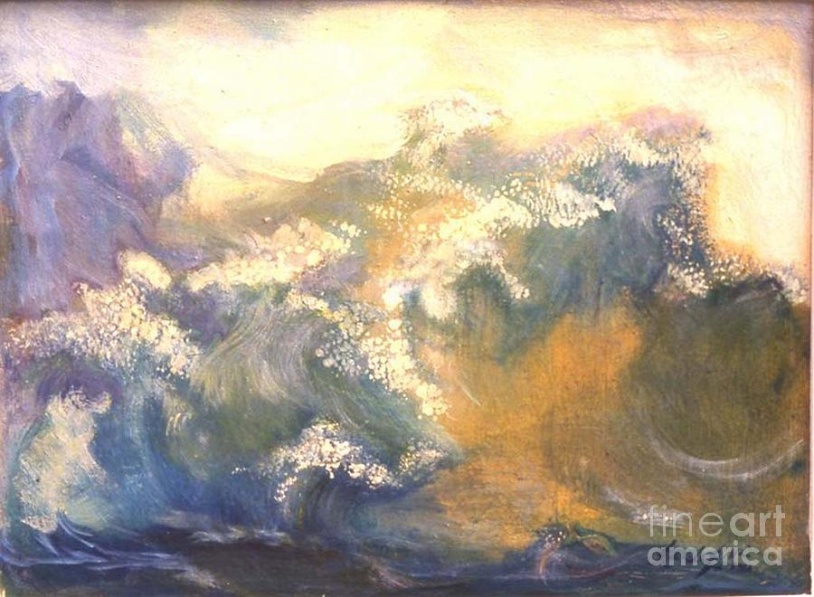 The Ocean Painting - The Wave by Renuka Pillai