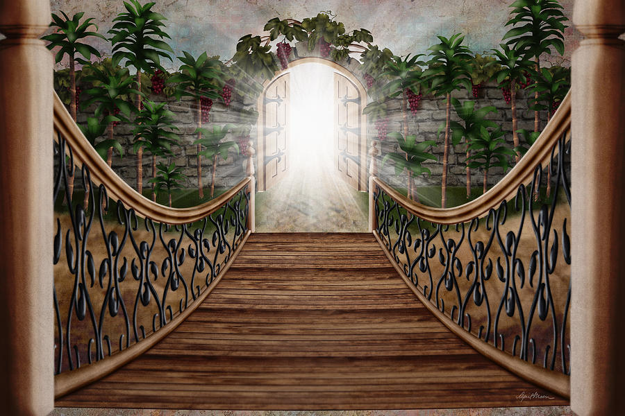 The Way Digital Art - The Way And The Gate by April Moen