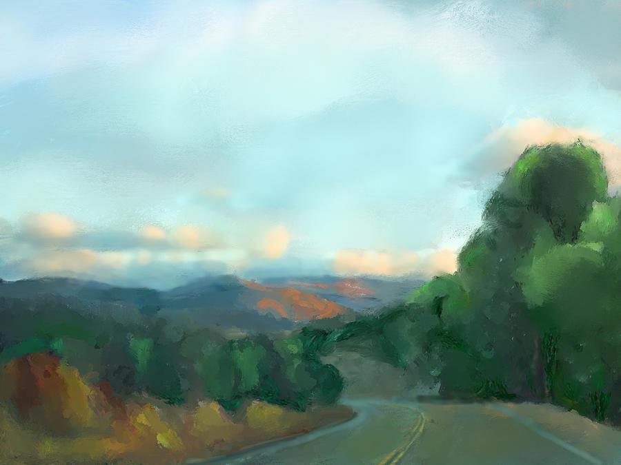 Landscape Mixed Media - The Way Home by Karen Sperling