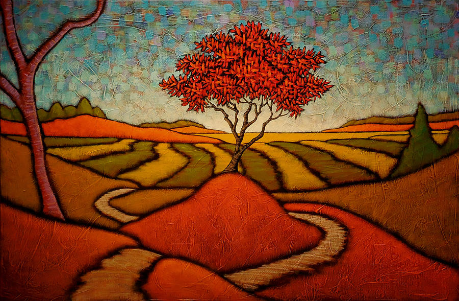 Red Tree Painting - The Way Of The Master by GC Myers