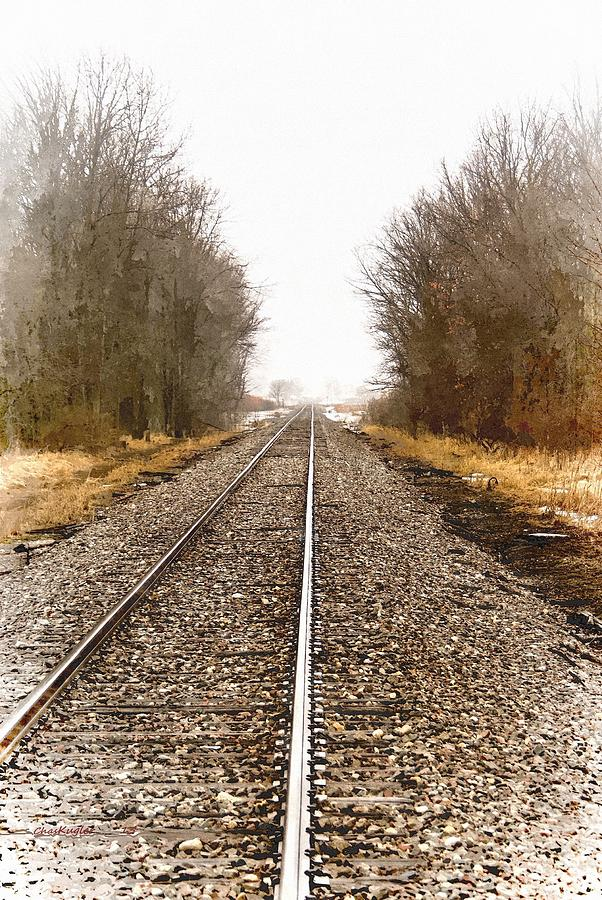 Trains Painting - the Way Out by Chuck Kugler