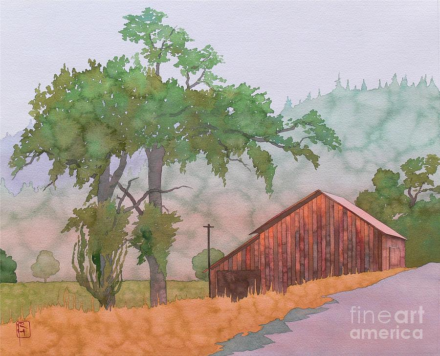 Watercolor Painting - The Way To Napa by Robert Hooper