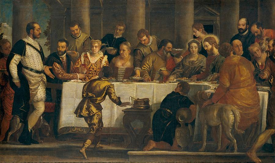1562 Painting - The Wedding At Cana by Paolo Veronese