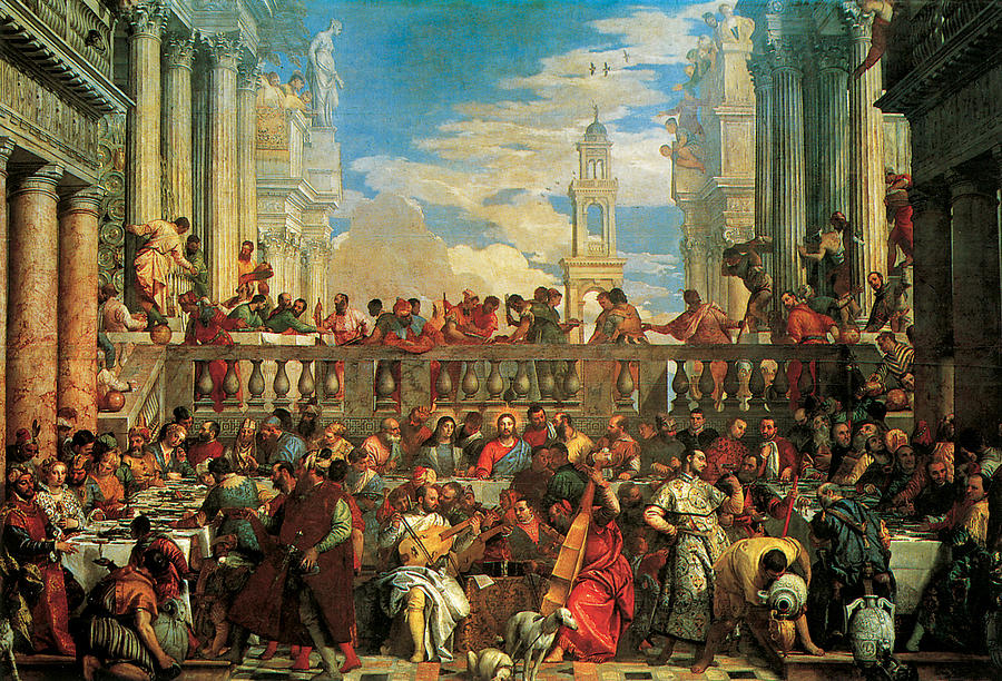 The Wedding Feast At Cana Painting by Veronese