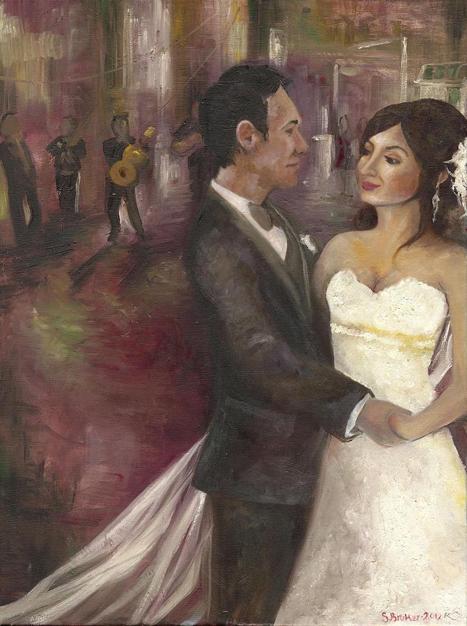 Wedding Painting - The Wedding by Stephanie Broker