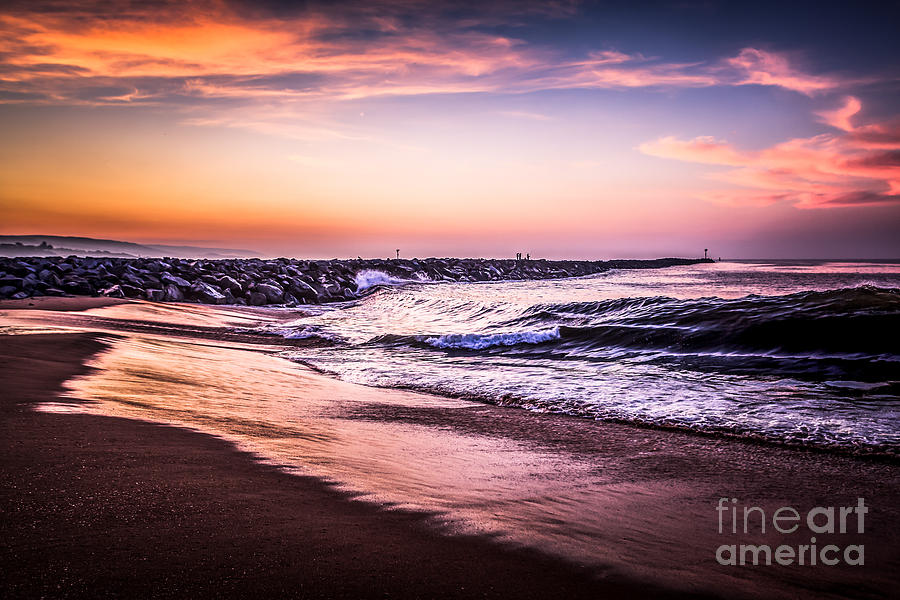 American Photograph - The Wedge Newport Beach California Picture by Paul Velgos