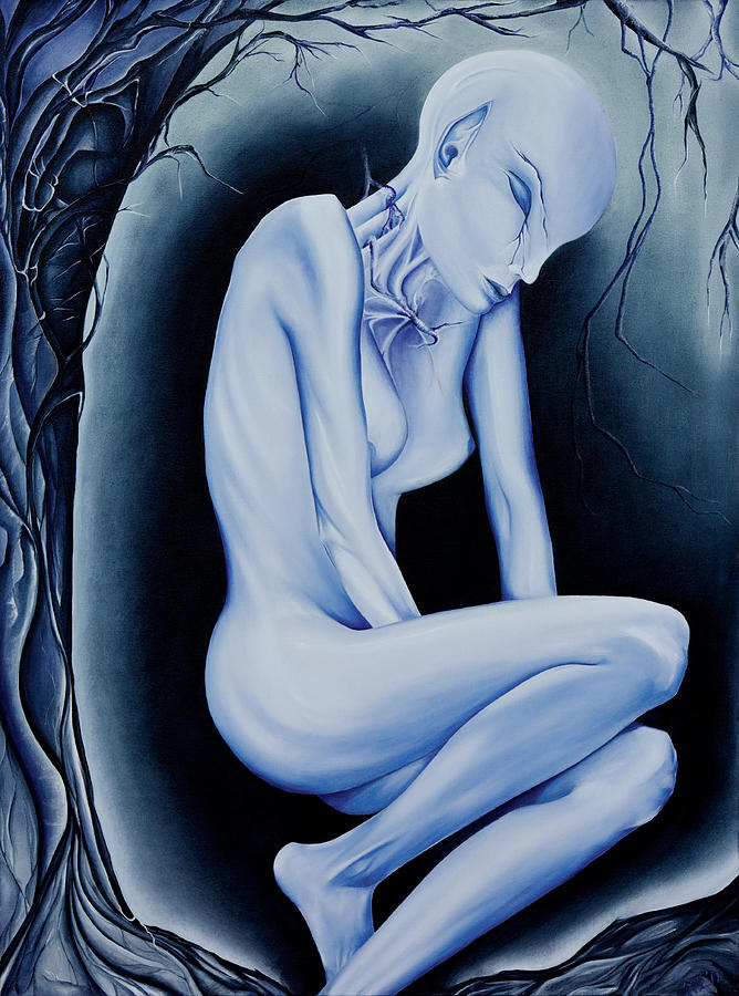 The Weeping of a Thousand Years Painting by Amy Elizabeth Quirk
