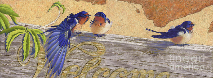 Bird Pastel - The Welcome Committee by Tracy L Teeter