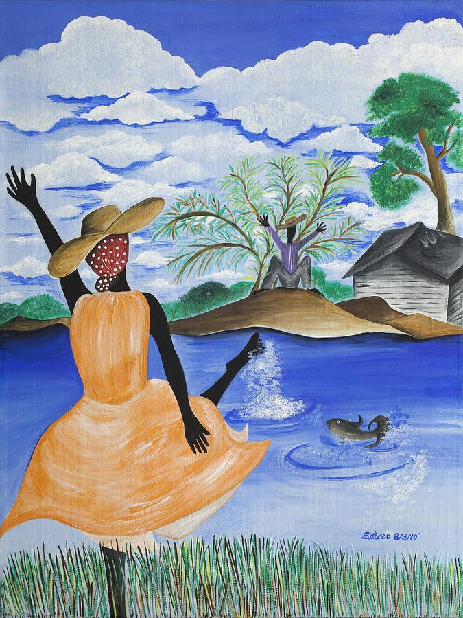 River Painting - The Welcome River by Patricia Sabree