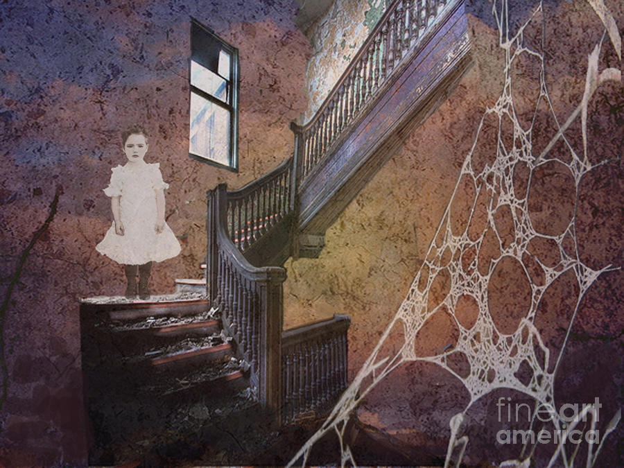 Spooky Digital Art - The Welcomer by Maureen Tillman