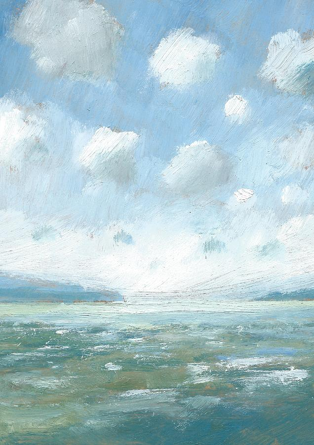 Seascape Oil Painting - The Western Solent Part One by Alan Daysh
