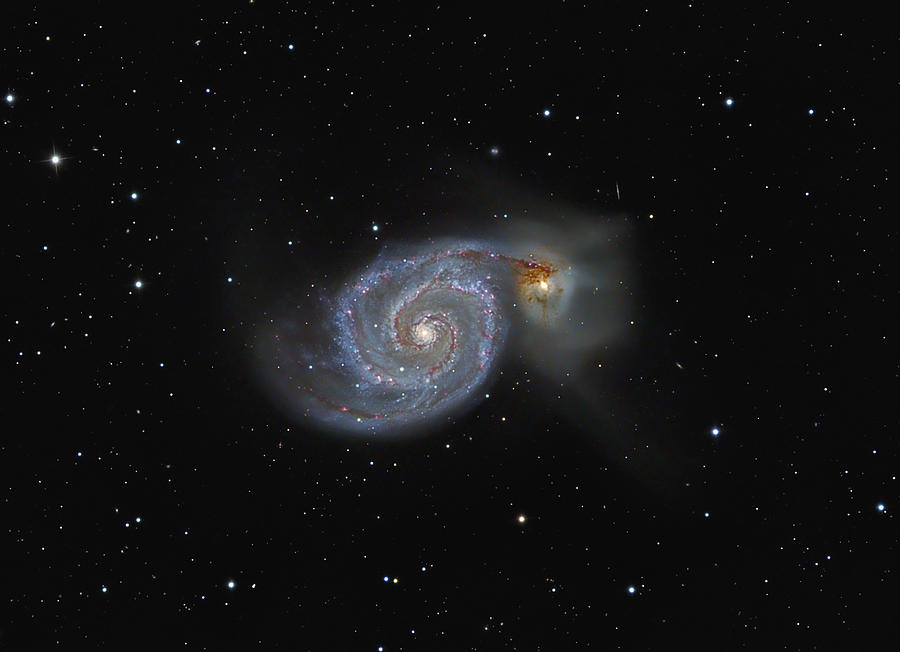 Astronomy Photograph - The Whirlpool Galaxy by Brian Peterson