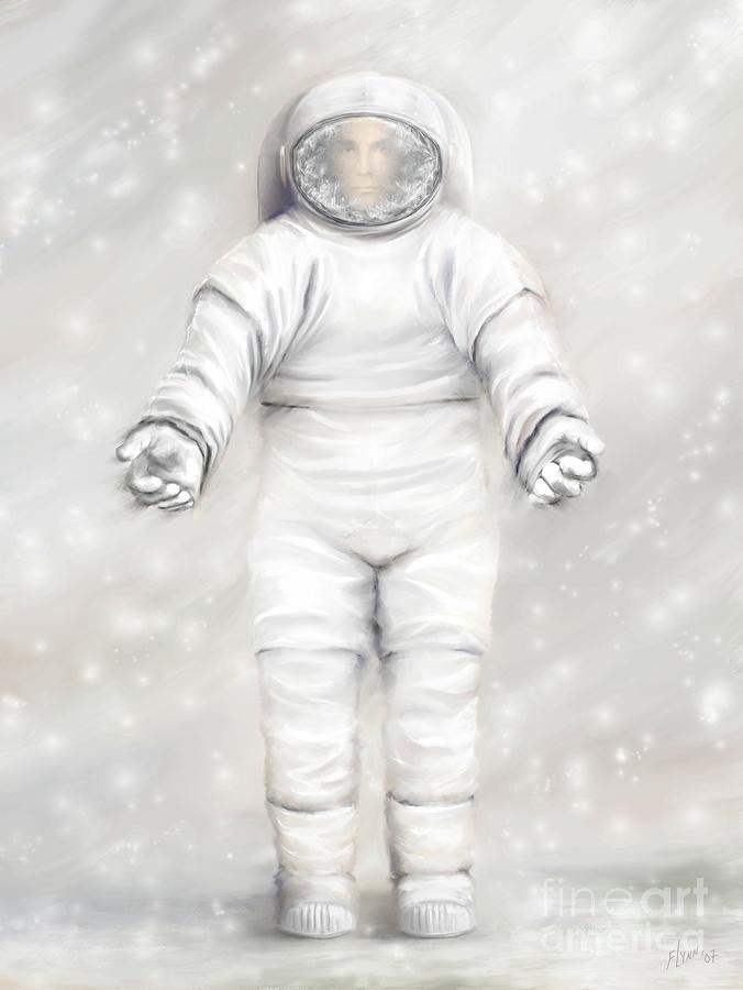 Tharsis Painting - The White Astronaut by Tharsis Artworks