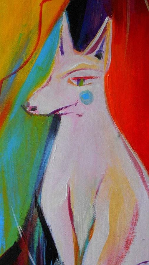 White Dog Painting - The White Dog  by Marlene LAbbe