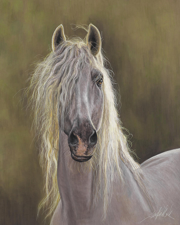 The White Horse Painting By Terry Kirkland Cook