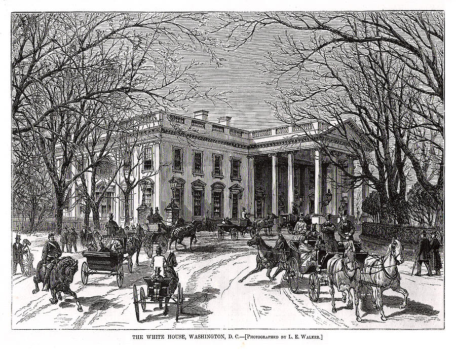 White House Photograph - The White House 1877 by Charles Somerville