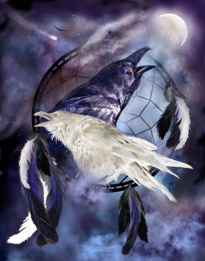 The White Raven Mixed Media - The White Raven by Carol Cavalaris
