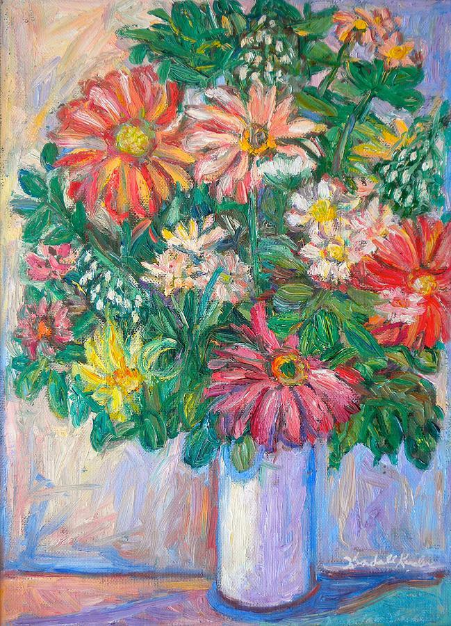 Still Life Painting - The White Vase by Kendall Kessler