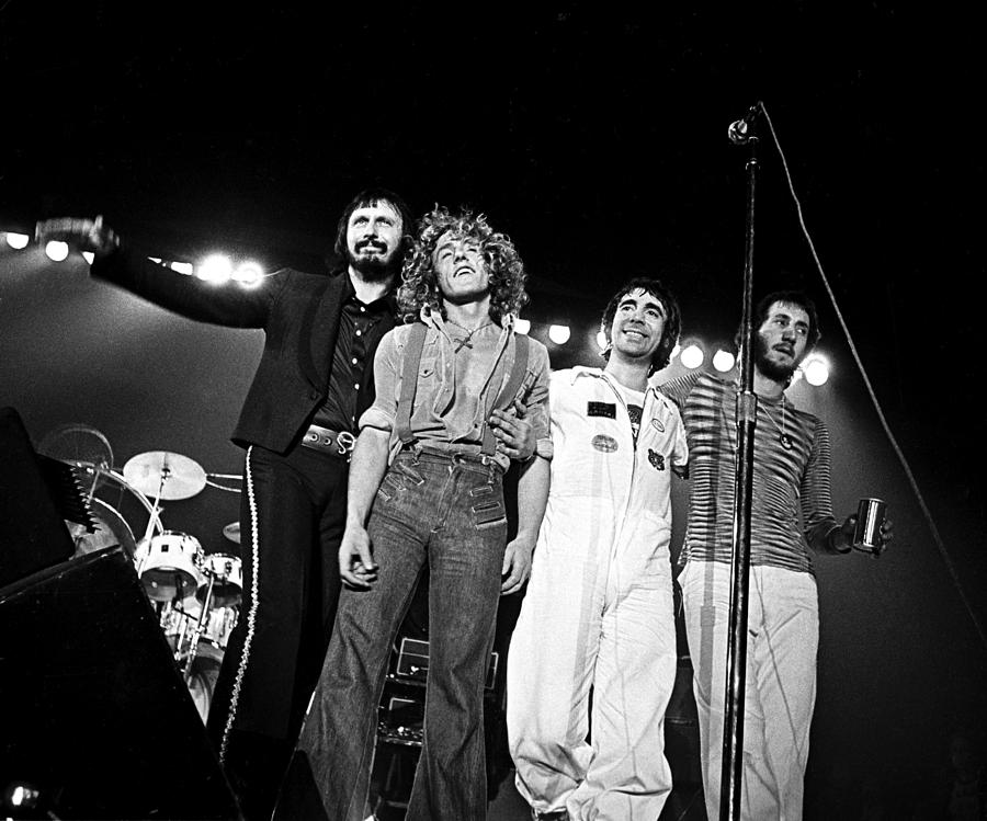 The Who 1975 Photograph By Chris Walter
