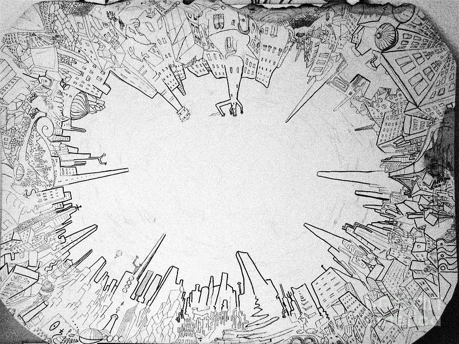 City Drawing - The Whole by Raul Morales
