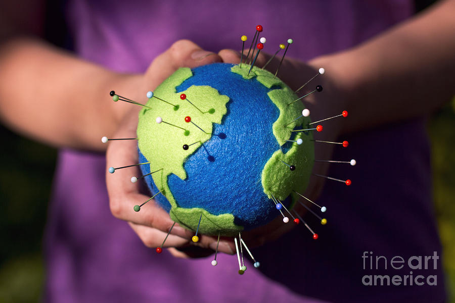 The Whole World In Your Hands Photograph by Catherine MacBride