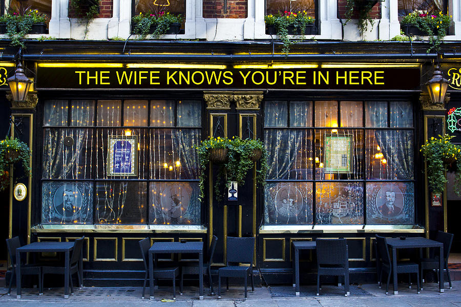 Wife Photograph - The Wife Knows Pub by David Pyatt