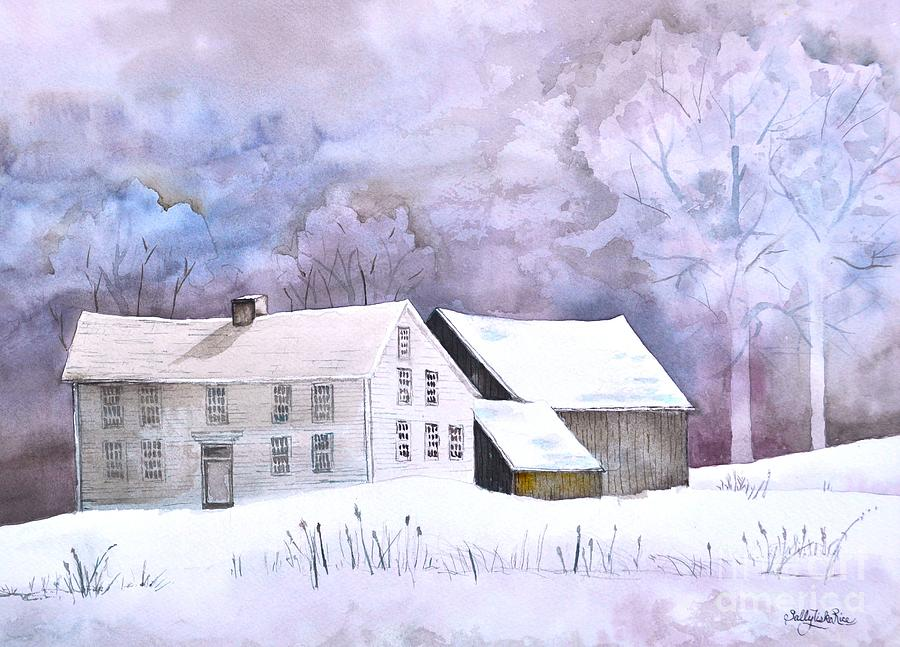Saltbox Painting - The Wilder Homestead by Sally Rice