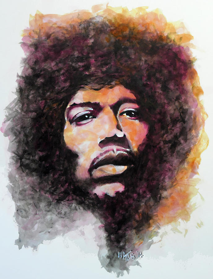 Hendrix Painting - The Wind Whispers Mary by William Walts