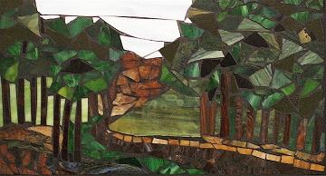 Mosaic Glass Art - The Winding Road - Sold by Chris Heisinger
