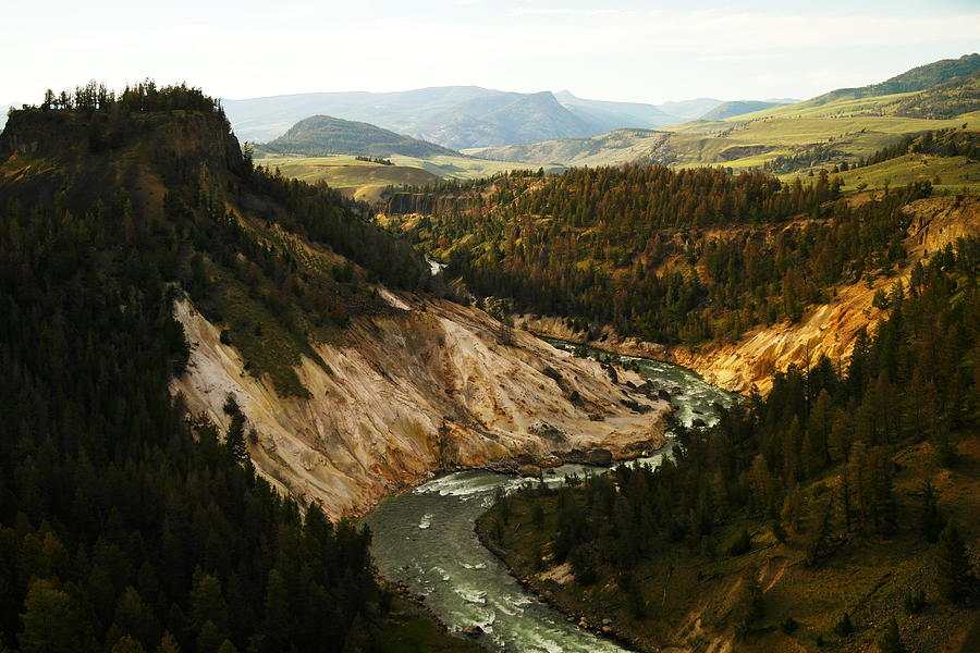 Rivers Photograph - The Winding Yellowstone by Jeff Swan
