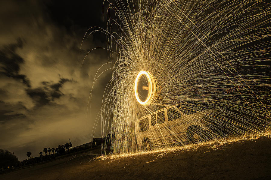 Steel Wool Photograph - The Windmill Steel Wool by Israel Marino