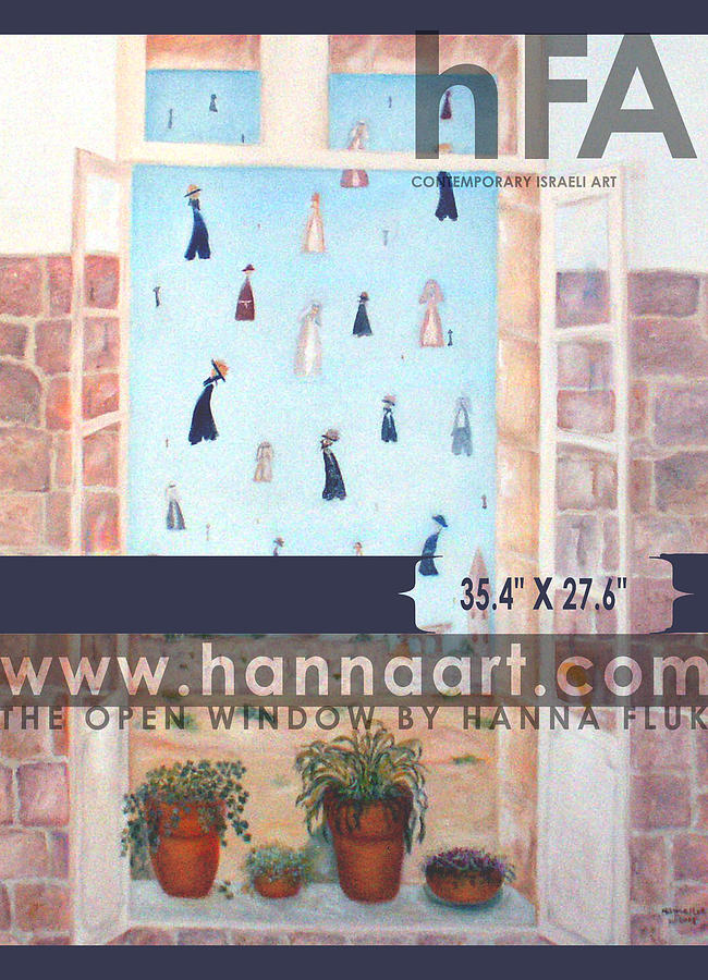 Urban Painting - The Window by Hanna Fluk
