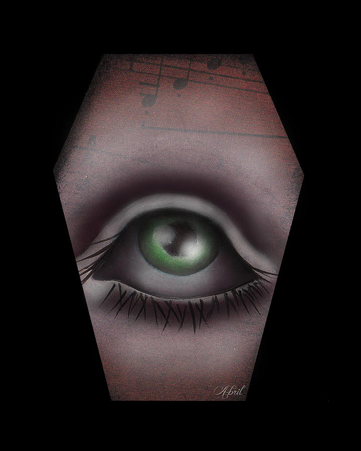Eye Painting - The Window IIi by  Abril Andrade Griffith