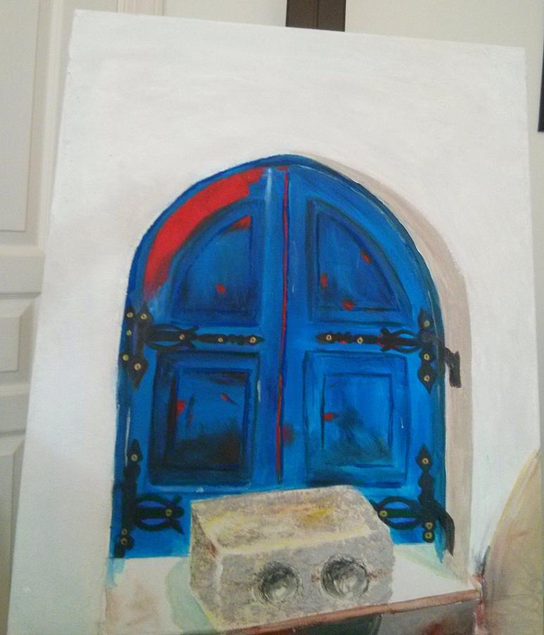 Texture Painting - The Window by Sulzhan Bali