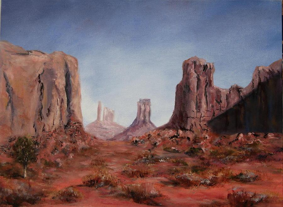 Arizona Painting - The Window by Thomas Restifo