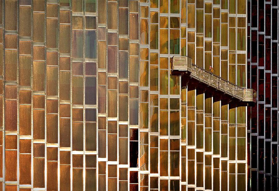 Window Photograph - The Windows Cleaner by Roberto Parola