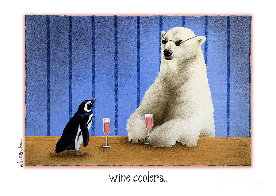 Will Bullas Painting - The Wine Coolers... by Will Bullas