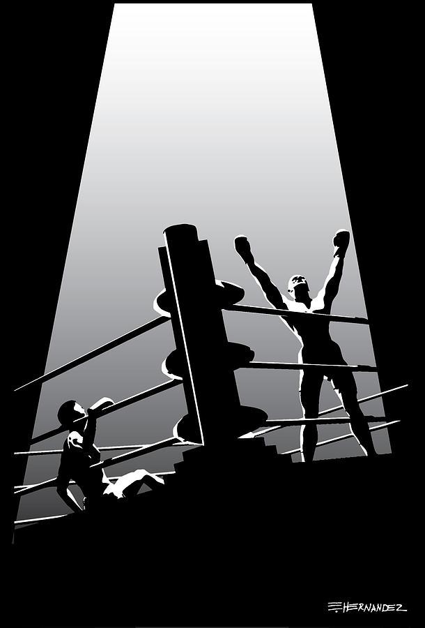 Boxer Painting - The Winner by Ed Hernandez