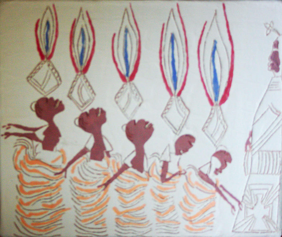 Jesus Painting - The Wise Virgins by Gloria Ssali