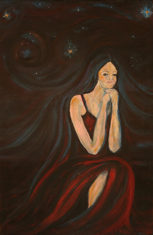 Star Painting - The Wish by Kathy Peltomaa Lewis