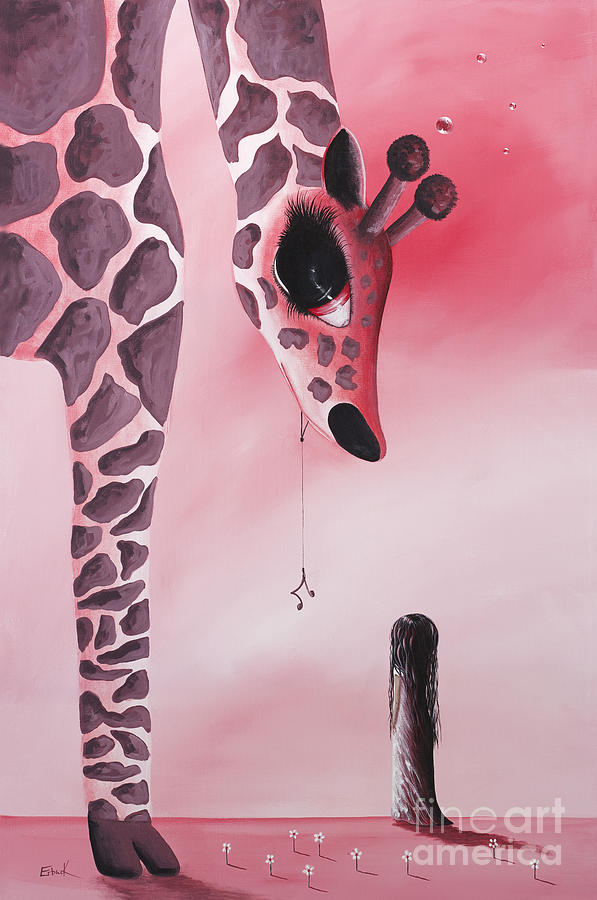 Giraffe Painting - The Wish That Came True By Shawna Erback by Shawna Erback