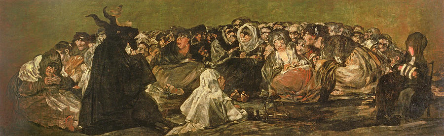 Mural Photograph - The Witches Sabbath Or The Great He-goat, One Of The Black Paintings, C.1821-23 Oil On Canvas by Francisco Jose de Goya y Lucientes