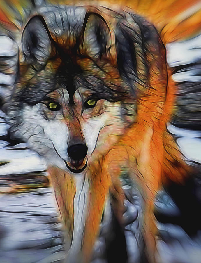 Wolf Digital Art - The Wolf 2 Digital Art by Ernie Echols
