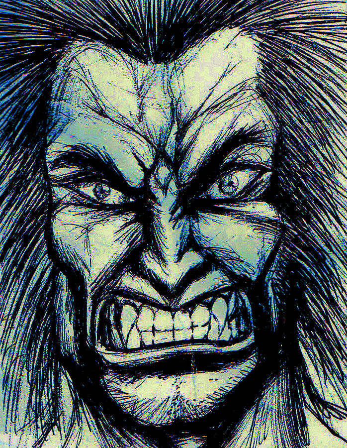 Wolverine Drawing - The Wolverine by Michael Mestas