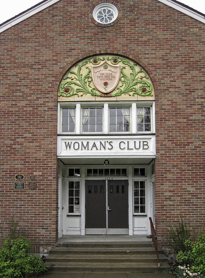 Women Photograph - The Womans Club Bids You Welcome by Daniel Hagerman