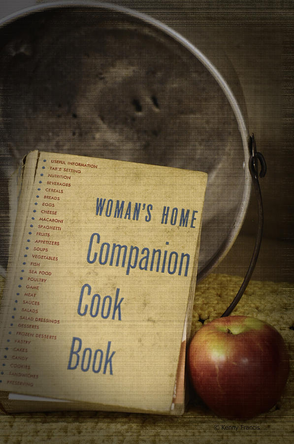 Cookbooks Photograph - The Womans Home Companion by Kenny Francis