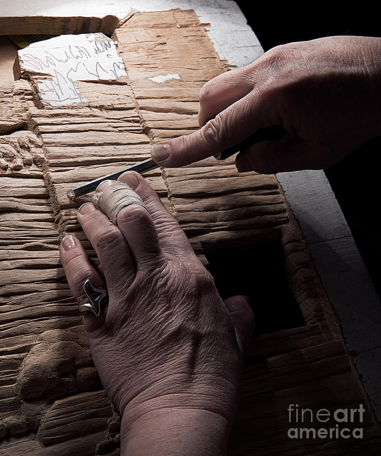 Wood Carver Photograph - The Wood Carver by Art Whitton