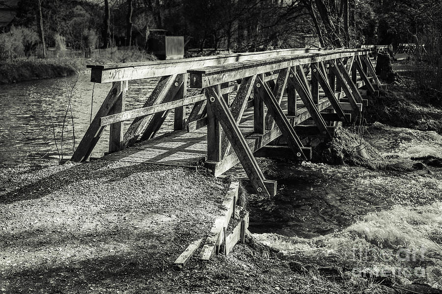 Amper Photograph - The Wooden Bridge by Hannes Cmarits