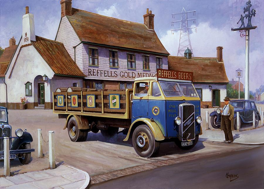 Commission A Painting Painting - The Woodman Pub. by Mike  Jeffries