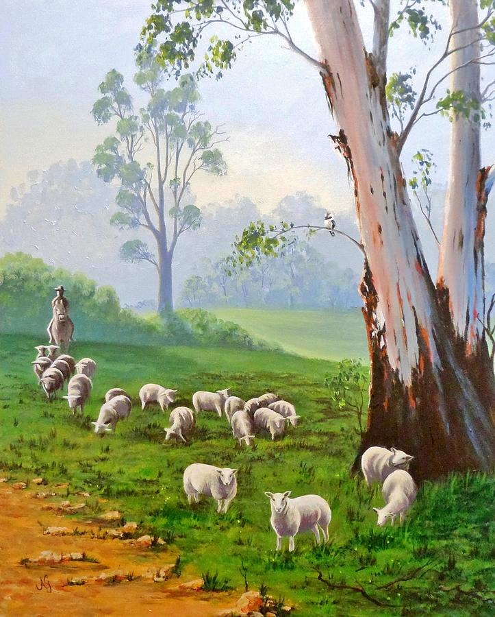 Australia Painting - The Wool Road by Anne Gardner